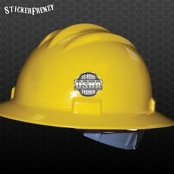 0e33ebf502c50 OSHA 30 Hour Hard Hat Sticker PACK  HH014 Safety Vinyl Decal Tool box