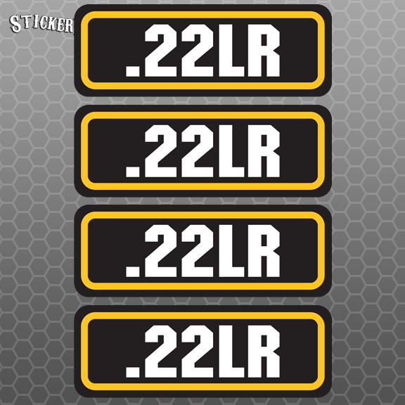 22 Lr 4pk Sticker Set Ammo Can Box Decal Bullet Army Gun